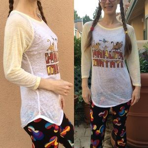 Disney Tops - Hakuna Matata Disney Lion King Sheer Shirt